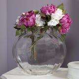 Peonía rosada y blanca de Artivicial Imagen de archivo libre de regalías