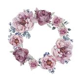 Peon logo z kwiatami Fotografia Stock