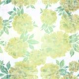 Peonia Fondo senza cuciture Collage dei fiori su un fondo dell'acquerello Immagine Stock