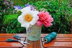 peonies цветка букета стоковое изображение