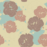 Peonies. Pastel color herbal seamless pattern for your design Stock Image