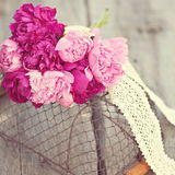 Peonies bouquet outdoor Royalty Free Stock Photos