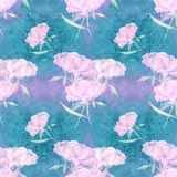 Peonies - flowers and leaves. Decorative composition on a watercolor background. Floral motifs. Seamless pattern. Use printed mate. Rials, signs, items, websites Royalty Free Stock Photos