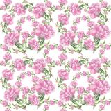 peonies Fundo sem emenda Colagem das flores e das folhas Foto de Stock Royalty Free