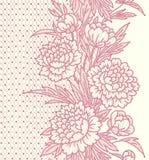 peonies Modelo inconsútil del cordón vertical libre illustration