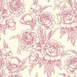 Peonies seamless pattern. Royalty Free Stock Photo