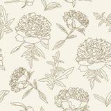 Peonies seamless pattern Royalty Free Stock Photos