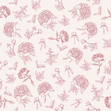 Peonies seamless pattern Royalty Free Stock Image