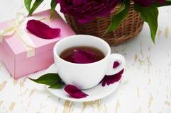 Peonies tea Royalty Free Stock Image