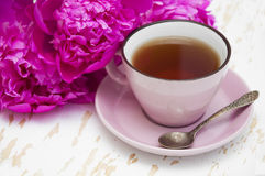 Peonies tea Stock Images