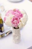 Peonies in Vase Stock Photo