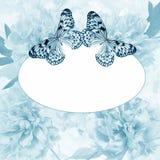 Peony και πεταλούδα Στοκ Εικόνα