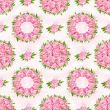 Peony flowers seamless pattern background. Tender pink flowers. Wedding design. Watercolor illustration Stock Photos