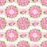 Peony flowers seamless pattern background. Tender pink flowers. Wedding design. Watercolor illustration Royalty Free Stock Photography