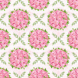 Peony flowers seamless pattern background. Tender pink flowers. Wedding design. Watercolor illustration Royalty Free Stock Image