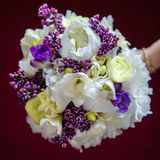 Peony and lilac bride bouquet Royalty Free Stock Photography