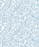 Peony pattern. Seamless floral pattern, vector illustration. Layers are managed and arranged for easy editing Stock Image