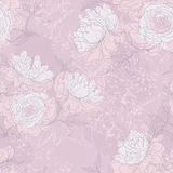 Peony seamless pattern Stock Photo