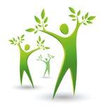 Peope vert d'arbre Images libres de droits