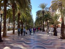 Peopel on holiday in alicante Spain Stock Images