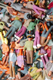 People. Background made from colorful miniature figurines Stock Photo