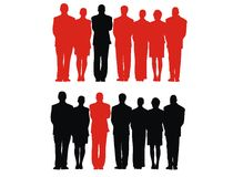 People. Men, silhouette, people, crowd, group Stock Images
