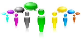 People. Group of people in different colors. People with opinions Stock Photo