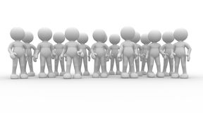 People. 3d people - human character - group. This is a 3d render illustration Royalty Free Stock Photo
