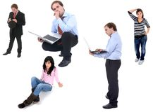 People. In studio picture, different situations Stock Image