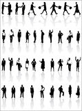 People. Illustration of people silhouette and shadow Stock Photo