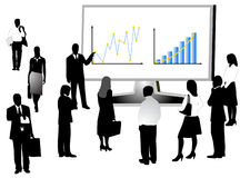 People. Illustration of business people and graph Royalty Free Stock Photo
