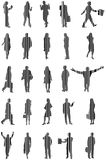 People. Illustration of people, barcode, black Stock Photo