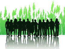 People. Illustration of people and shadow Royalty Free Stock Photo