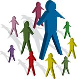 People. Colourful group of people Royalty Free Stock Photography