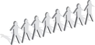 People. Row of people Royalty Free Stock Images