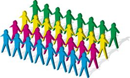 People. Group people lined up Royalty Free Stock Image