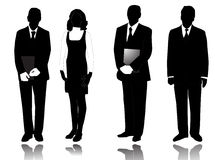 People. Illustration of business people with shadows Stock Photography