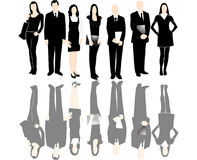 People. Illustration of business people with shadows Stock Photos