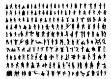 People. Silhouettes, isolated on white. Vector illustration Stock Photo