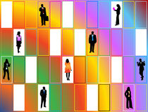 People and abstract Stock Images