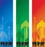 People on an abstract arrow background Royalty Free Stock Photography