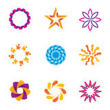 People abstract connected community spiral success circle logo icons Stock Photo
