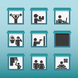 People activities design Royalty Free Stock Images