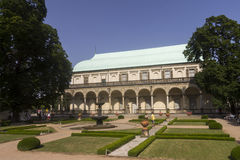 People admiring the Prague Royal Summer Palace Royalty Free Stock Images