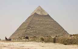 People admiring the Pyramid of Khafre Royalty Free Stock Photo