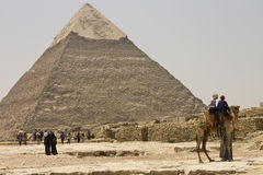 People admiring the Pyramid of Khafre Royalty Free Stock Image