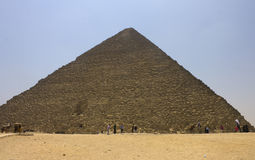 People admiring Pyramid of Khufu (Cheops) Stock Photo