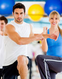 People in an aerobics class Stock Photography