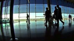 People on the aeroport Stock Footage