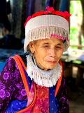 People. The aging beauty in A remote village of bangkok Royalty Free Stock Images